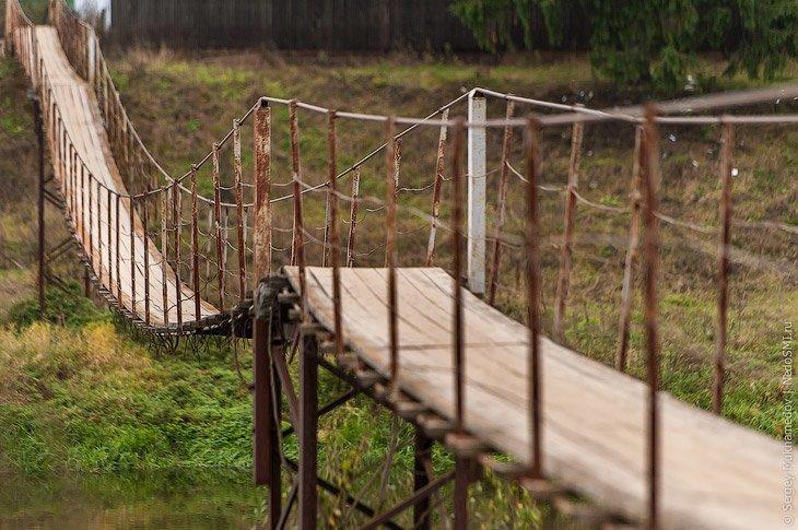 1. Подвесной мост через реку Москва в Тучково Висячие мосты, ПОДМОСКОВЬЕ, фоторепортаж