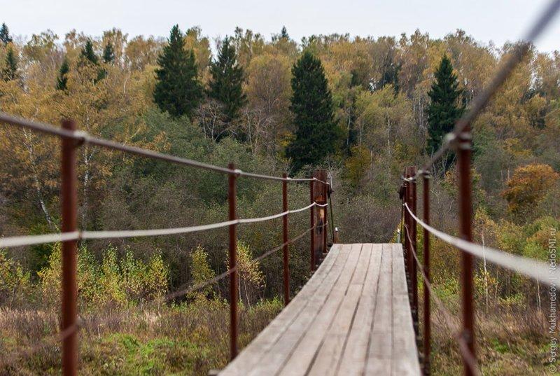 7. Подвесной мост в Ожигово Висячие мосты, ПОДМОСКОВЬЕ, фоторепортаж