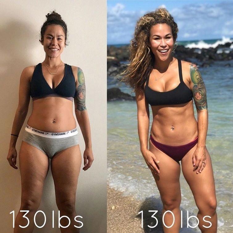 В это трудно поверить, но на обоих фотографиях Сия весит 59 кг Сия Купер, в мире, вес, внешность, люди, фигура