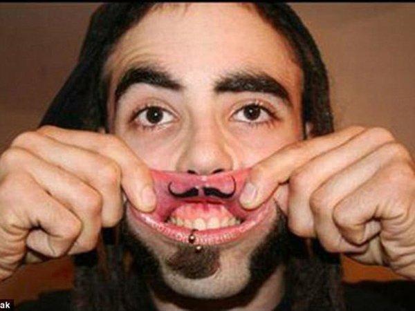 Подкрученные усы в мире, губы, идиоты, история, люди, тату, татуировка