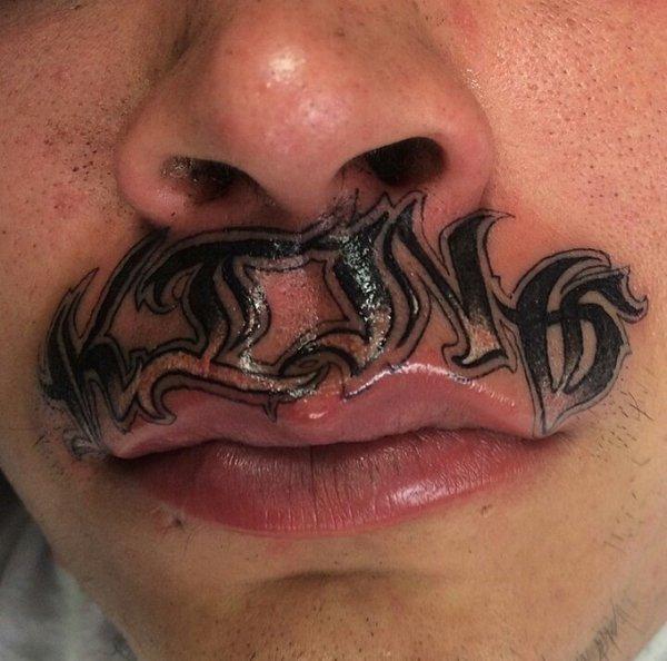 15 худших татуировок на губах, которые можно было придумать в мире, губы, идиоты, история, люди, тату, татуировка