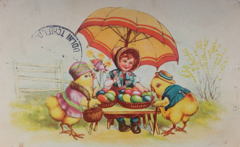 Новым годом, пасха открытки 19 век