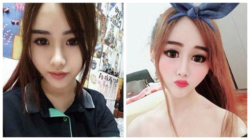 """Поклонники в шоке: звезда Instagram превратила себя в """"китайскую Барби"""" барби, изменение внешности, изменение лица, инстаграм-блогерши, инстаграмм, пластика лица, пластическая операция, трансформация"""