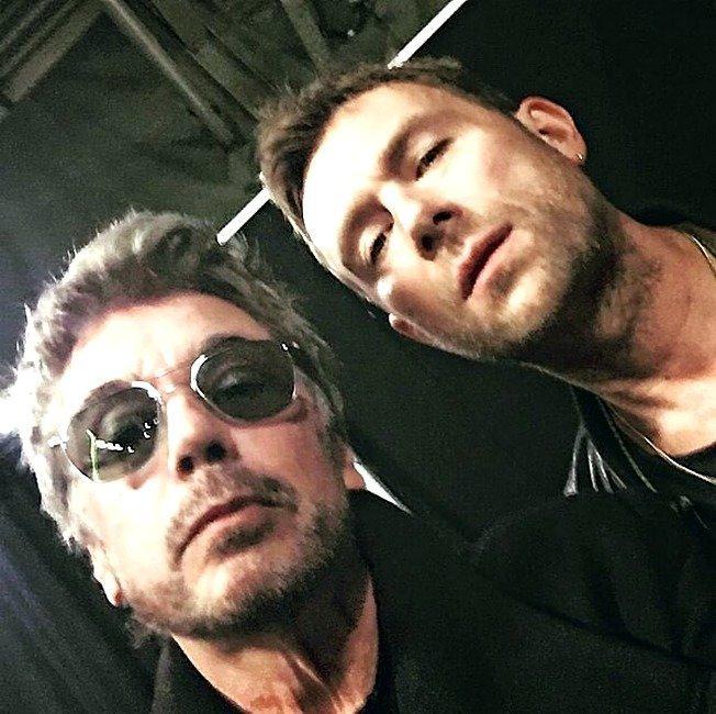 Жан-Мишель Жарр и Деймон Олбарн перед шоу Gorillaz 24.03.2017 композитор, музыка, франция