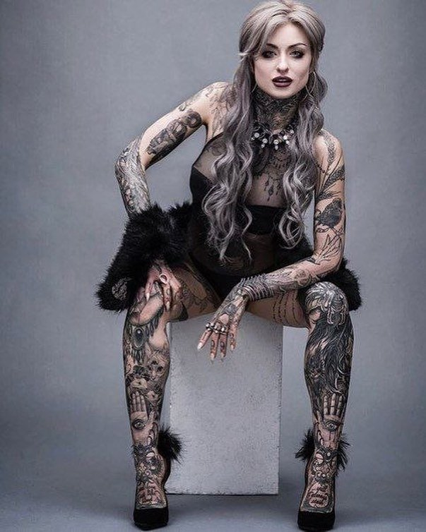Тот момент когда татуировку замечаешь в последнюю очередь девушки, зататуированные, интересное, искусство, красота, тату