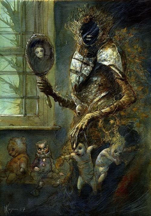 Работы Дейва Кендалла интересно, искусство, красиво, монстры. страх, прикольно, ужасы, чудовища