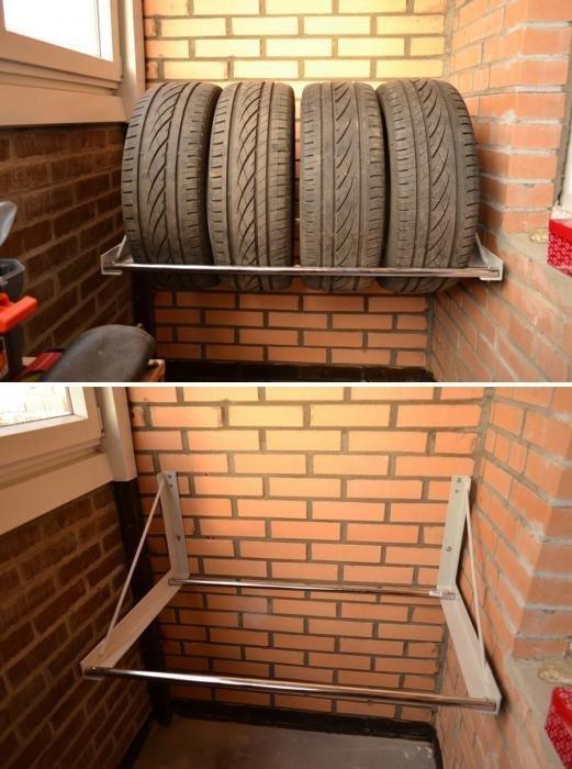 3. Самый удачный способ - сделать стеллаж авто, автомир, резина, фото, хранение резины, шины