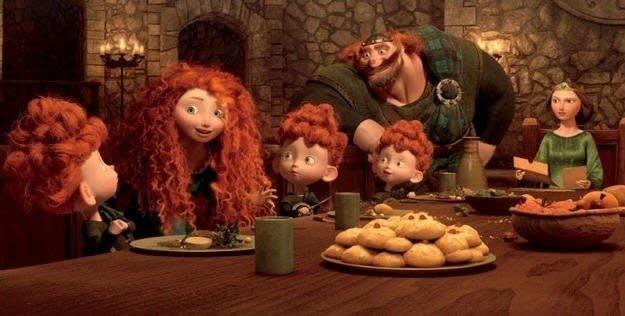 """7. Эти маленькие печенья в мультфильме """"Храбрая сердцем"""" - традиционный шотландский десерт дисней, интересно и познавательно, мультфильмы, основано на реальных событиях, откуда что взялось, реальность и мифы, факты, эпизоды"""