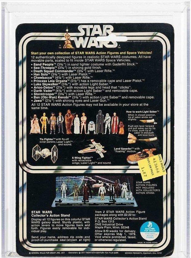"""Предыдущий рекорд среди фигурок """"Звездных войн"""" принадлежит Бобе Фетту - модель персонажа была куплена в 2016 году за 36000 долларов Стоимость, аукцион, звездные войны, игрушка, коллекция, персонаж, фигурка"""