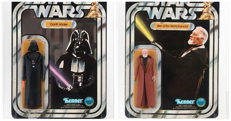 Да пребудут с вами деньги: фигурки Дарта Вейдера и Оби-Ван Кеноби проданы на аукционе за $120000 Стоимость, аукцион, звездные войны, игрушка, коллекция, персонаж, фигурка