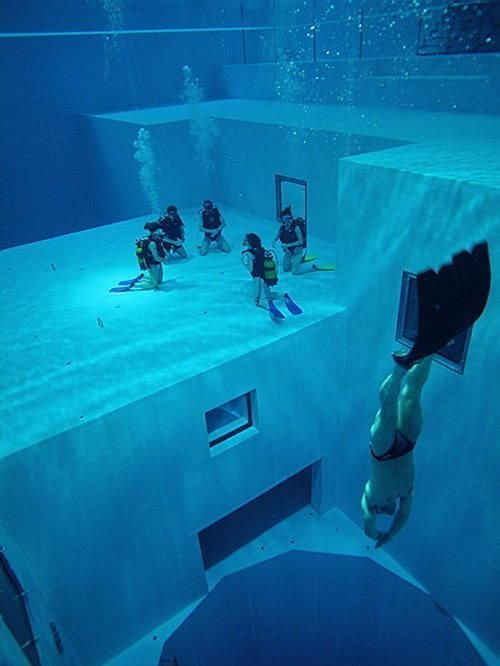 """2. В Бельгии есть бассейн """"Немо"""", из которого не захочется выходить игры, игры для взрослых, идеи для развлечений, интересно, фото"""