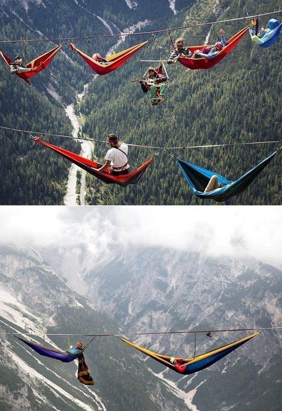 3. Если не боитесь высоты, то каждый год скалолазы собираются в Монте-Пьяна и устраивают пикничок игры, игры для взрослых, идеи для развлечений, интересно, фото
