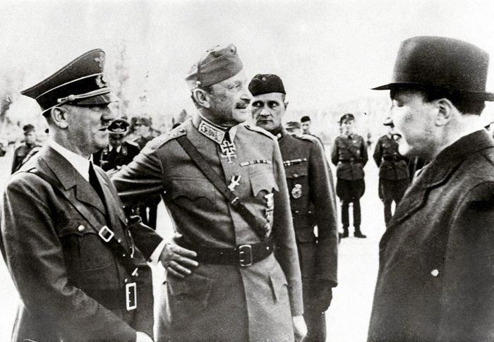 Финляндния. Маршал C.G.E. Маннергейм президент Рюти, на встрече с Адольфом Гитлером аристократия, гитлер, европа, интересное, история, монархия