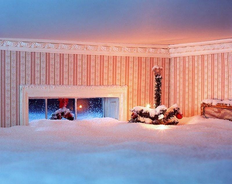 Белое Рождество детализация, искусство, рисунок, фотограф, художник