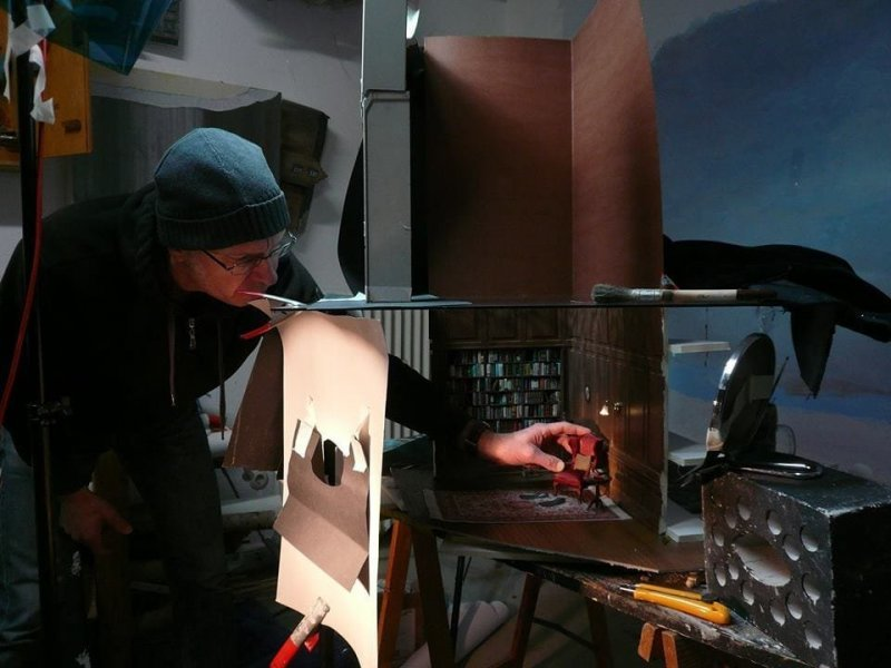 Франк Кунерт за работой детализация, искусство, рисунок, фотограф, художник