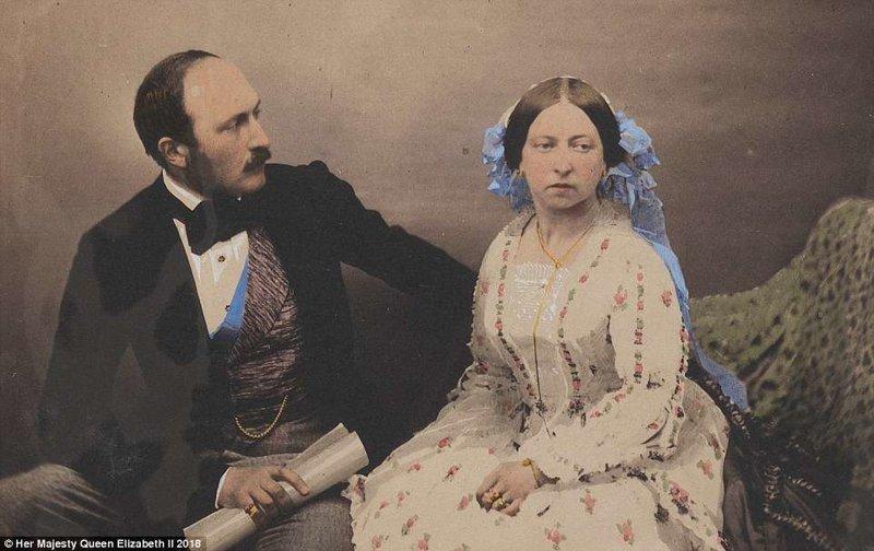 Альберт женился на Королеве Виктории в 1840 году. Он был известен своим интересом к образованию и науке, а также промышленности, технологиям и дизайну. англия, исторические кадры, история, колоризированные фото, королева Виктория, королевская семья, редкие фото, фото