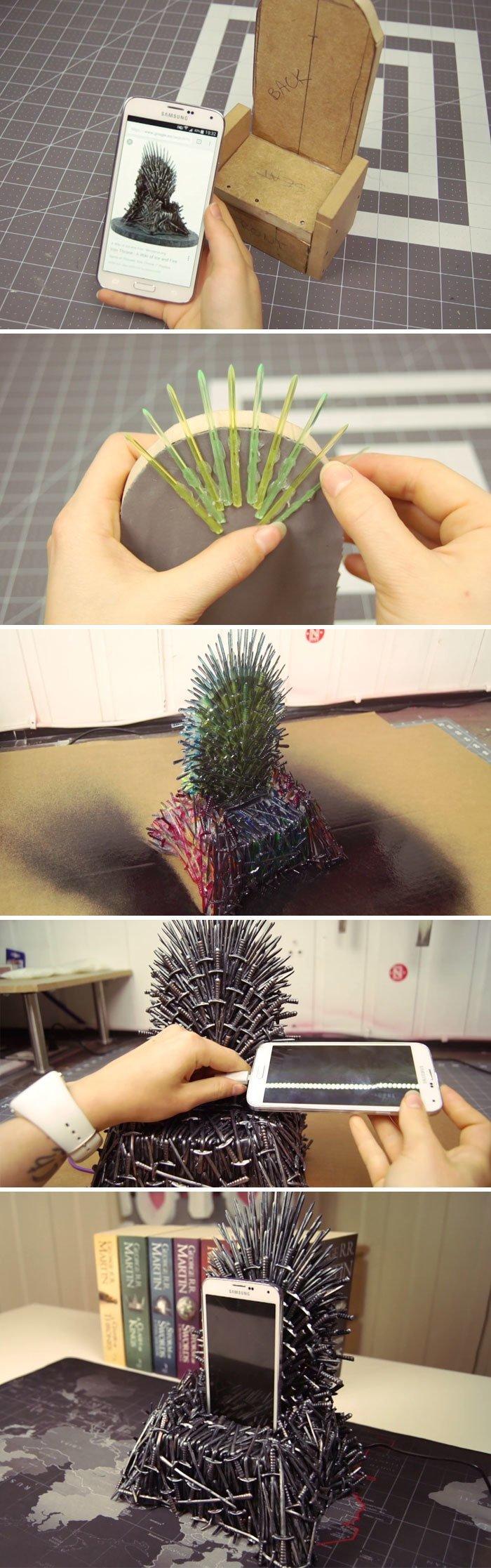 """4. Зарядное устройство в виде трона из """"Игры престолов""""  идея, креатив, мастер, самоделки, своими руками, сделай сам, фото"""