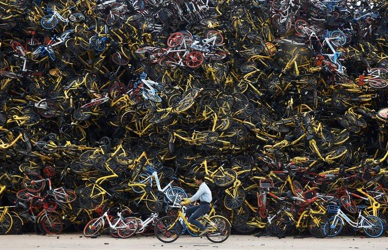 Побочный эффект: как велосипеды наводнили Китай апокалипсис, велосипед, жизнь, китай, ситуация, факт