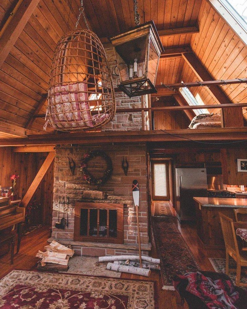 25 уютных деревянных интерьеров, в которых хочется оказаться прямо сейчас дома, интерьер, отдых, природа, уют, фотография