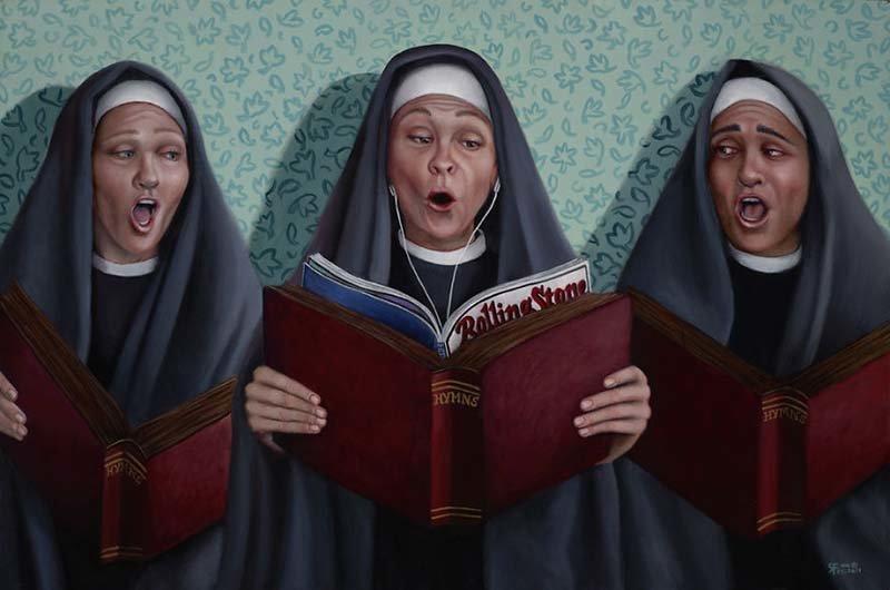 Сестра Рита всегда была бунтаркой   Кристина Рамос, Монахини, грешницы, картина, художница