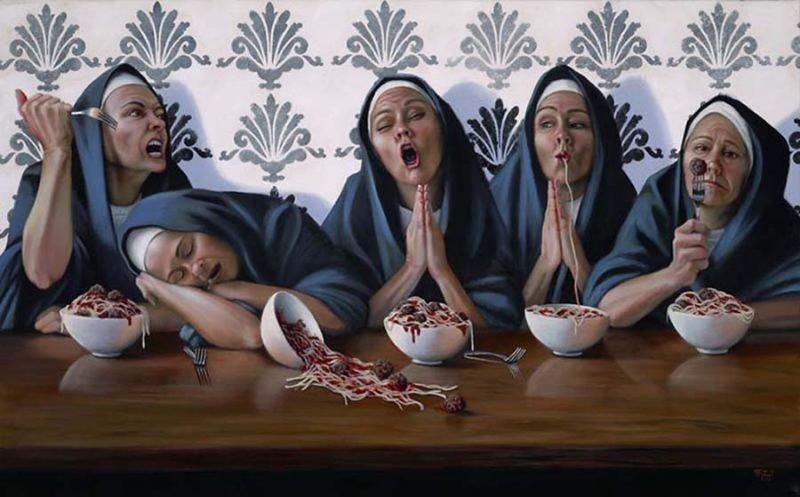 Святая невинность    Кристина Рамос, Монахини, грешницы, картина, художница