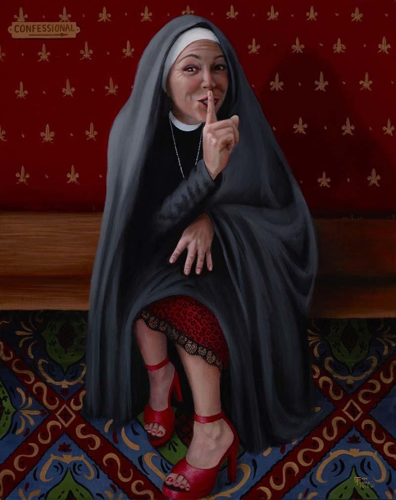 У сестры Виктории есть свои секреты    Кристина Рамос, Монахини, грешницы, картина, художница