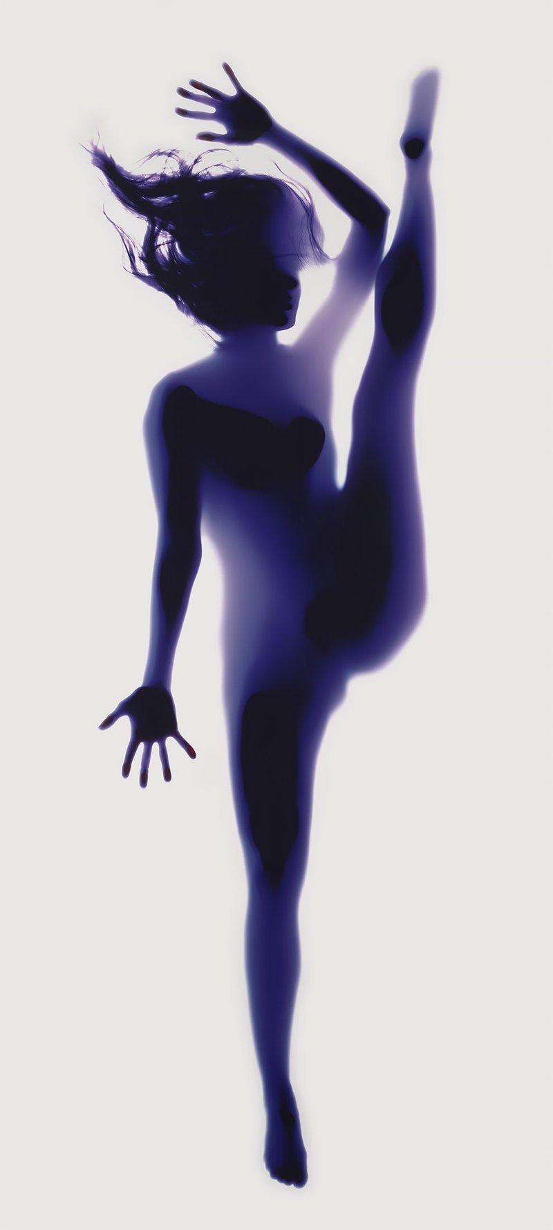 Потрясающие портреты-фотограммы поз йоги Yoga Photograms, йога, красота, проект, тело, фотограмма
