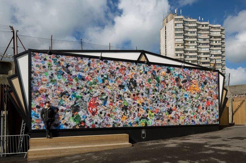 А всё для того, чтобы наглядно показать, сколько же отходов производит всего один человек в  мире, засорение, люди, мусор, планета, экология