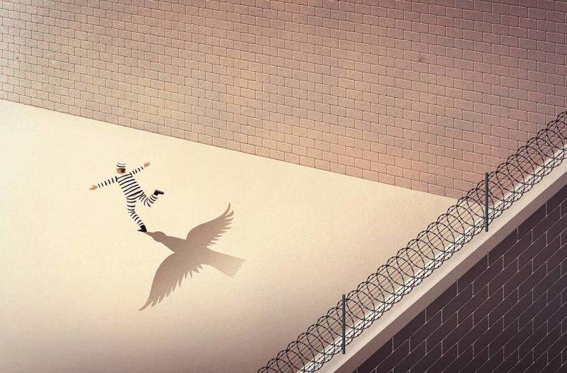 Свобода внутри иллюстрация, рисунок, современный мир, художник
