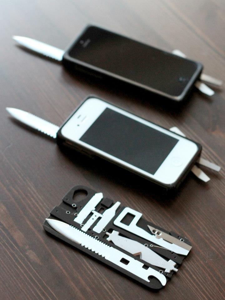 6. Производители не дураки, они в курсе, что везде мы таскаемся с мобильными, поэтому сделали девайсы и под них аксессуары для мужчин, брутально, инструменты, интересно, мультитул, ножи, фото