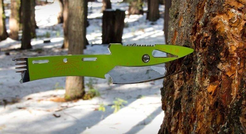 1. В виде метательного ножа аксессуары для мужчин, брутально, инструменты, интересно, мультитул, ножи, фото