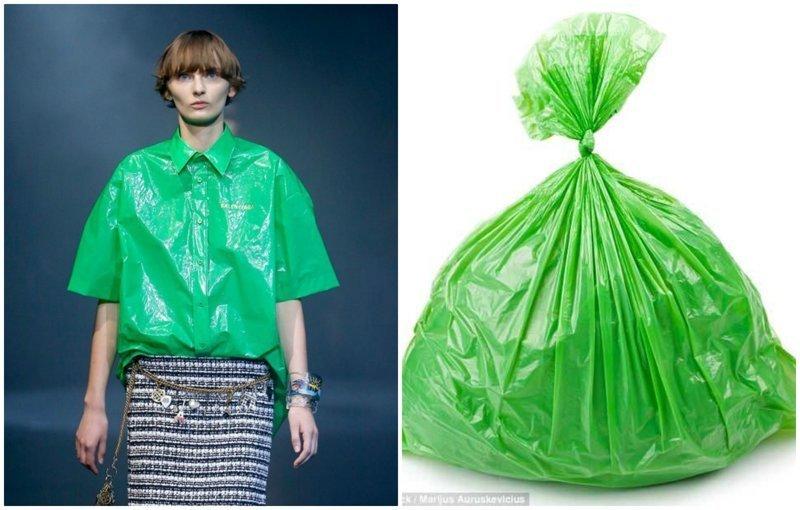 Бренд Balenciaga представил рубашку из пластика за $915 balenciaga, бренд, мода, модная новинка, модный показ, одежда, странная вещь, фото
