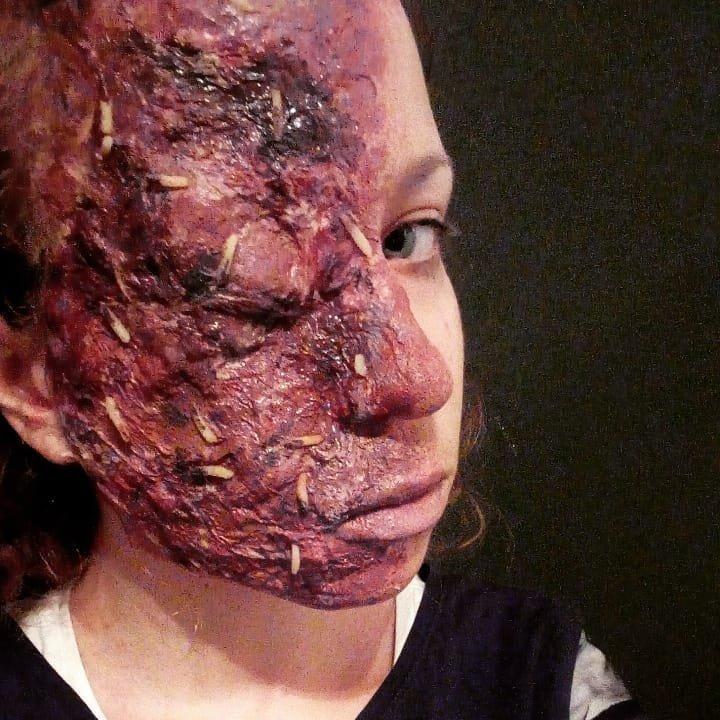 Интересных вам зомби-вечеринок и творческих успехов в гримерном деле! зомби грим, интересное, искусство, кино, макияж, мастерство