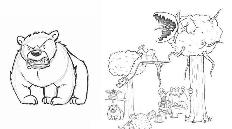 Художник каждый день подрисовывал к своему простенькому комиксу по одному персонажу забавно, комикс, прикол, рисунок, художник, юмор