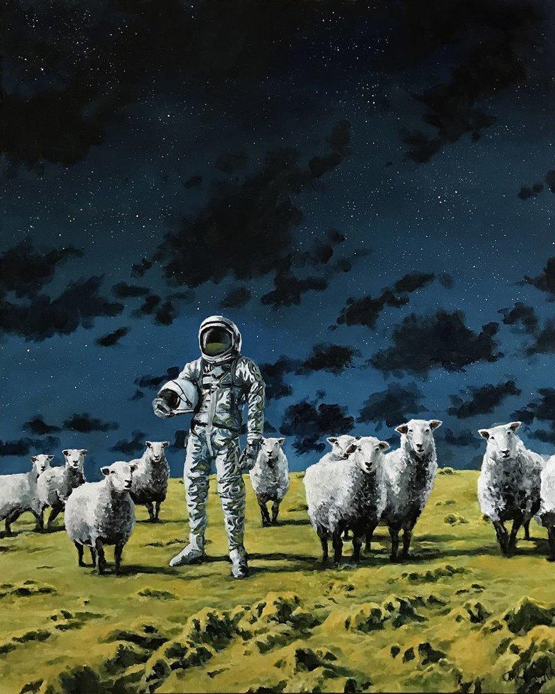 1. Хьюстон, у нас проблема астронавт, искусство, картина, меланхолия, портрет, творчество, художник