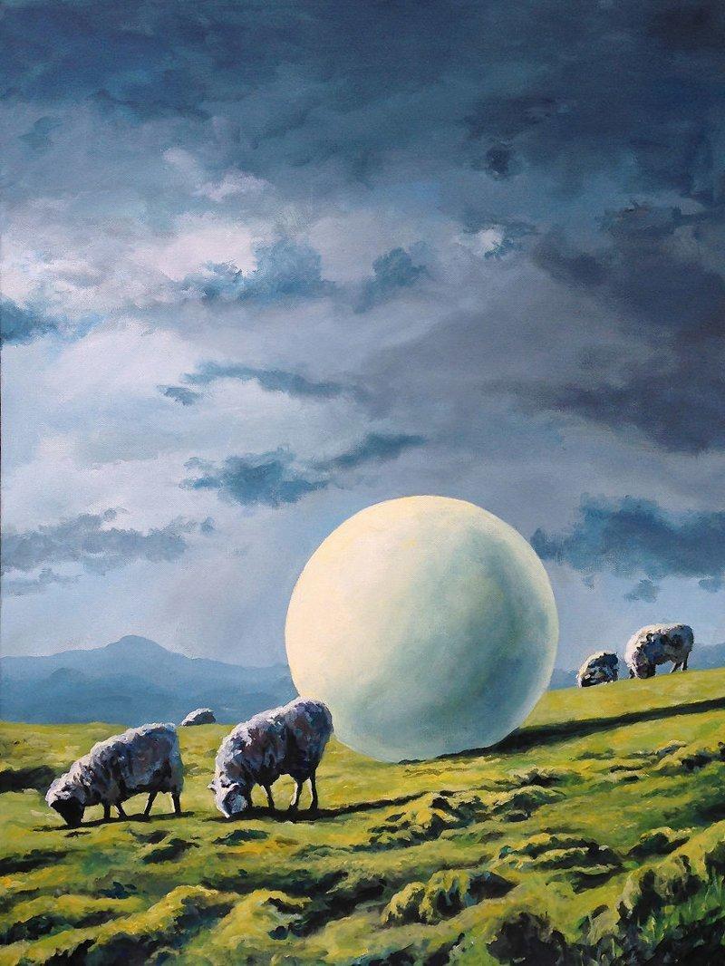 7. Сфера II астронавт, искусство, картина, меланхолия, портрет, творчество, художник