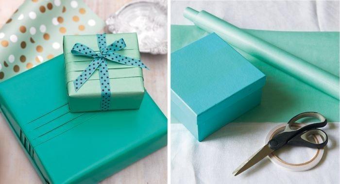 Упаковываем квадратную коробку креатив, полезные советы, упаковка поарков