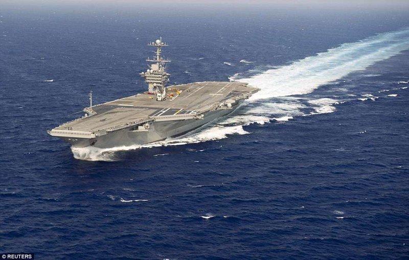 Тем временем в среду, 11 апреля, США отправили на Ближний Восток ударную группу кораблей во главе с атомным авианосцем ynews, ПВО  С-400, асад, новости, политика, россия, сирия, сша