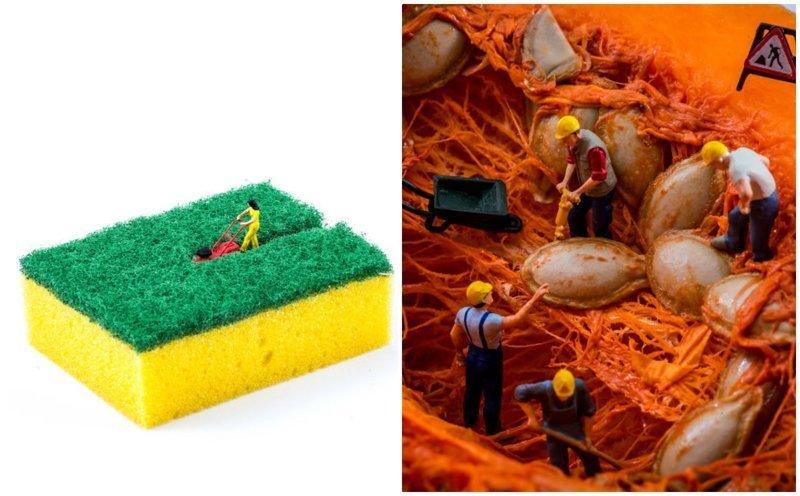 Новые миниатюрные миры из подручных предметов от Питера Ксаквари инсталляции, искусство, красиво, креатив, миниатюры, творчество, фото, фотограф