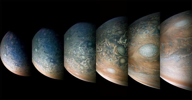 Зонд «Юнона» сделал новые величественные фотографии Юпитера и Большого Красного Пятна кадр, космос, красота, планета, фото, юнона, юпитер