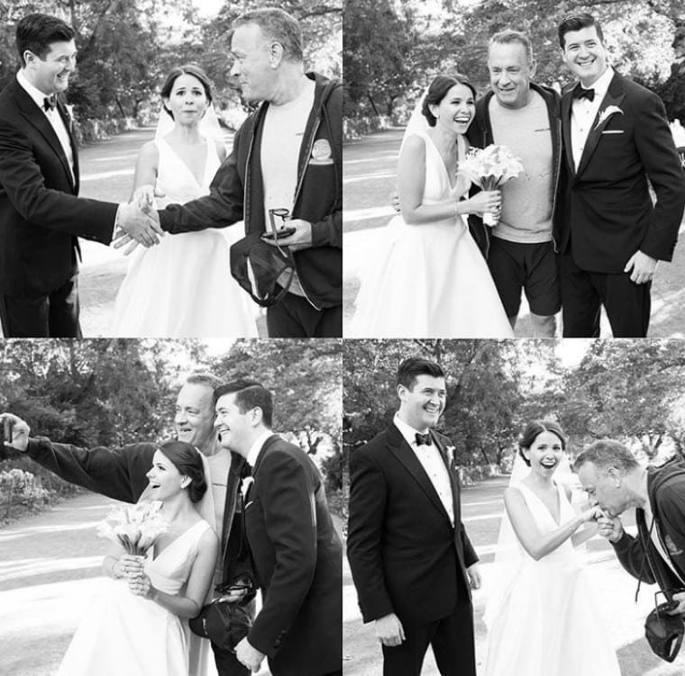 8. Молодожёны, свадебную фотосессию которых «испортил» Том Хэнкс Радость, в мире, люди, прикол, юмор