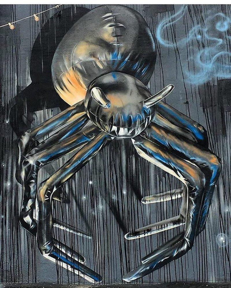 Граффити в виде шаров. И сложно поверить, что в них не гелий Дениэл Фалстрём, в мире, граффити, красота, объем, рисунок, художник