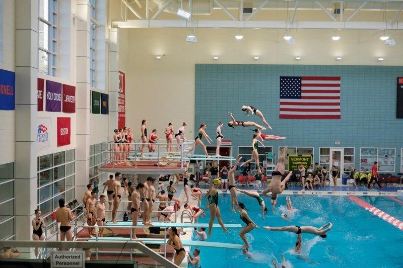 Прыжки в воду Пилл Касс, люди, народ, спорт, фотограф, хаос