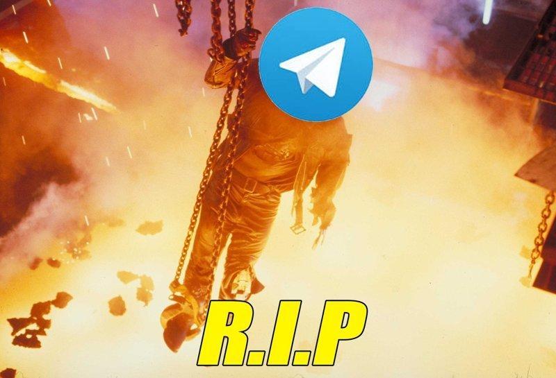 Лига фотошопа уже несколько часов креативно хоронит популярный мессенджер Telegram, дуров, мессенджер, реакция соцсетей, роскомнадзор, россия, юмор