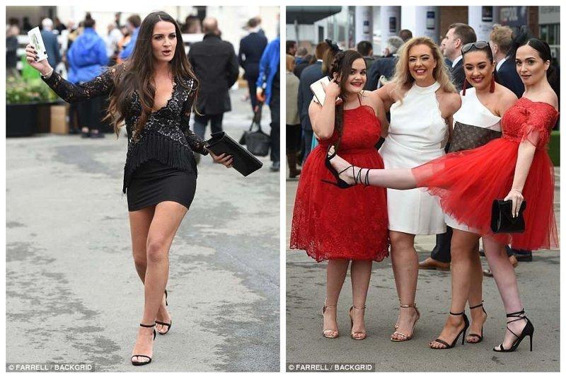 Девчонки зажигают Эйнтри, великобритания, дамы, девушки, женщины, наряды, праздник, скачки