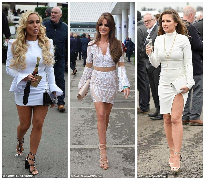 Женщины в белом Эйнтри, великобритания, дамы, девушки, женщины, наряды, праздник, скачки