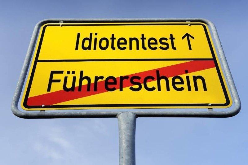 Идиотен-тест водители, германия, пдд, пешеходы