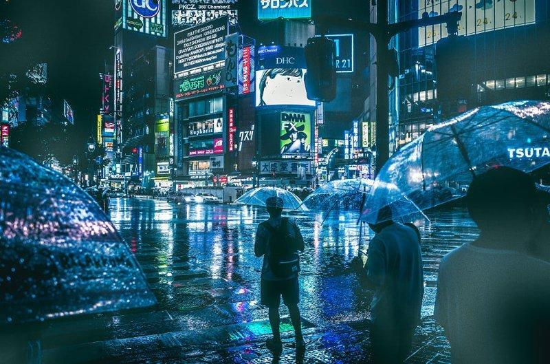 30 фото, доказывающих, что эпоха киберпанка уже наступила город, киберпанк, неон, провода, улица, эстетика
