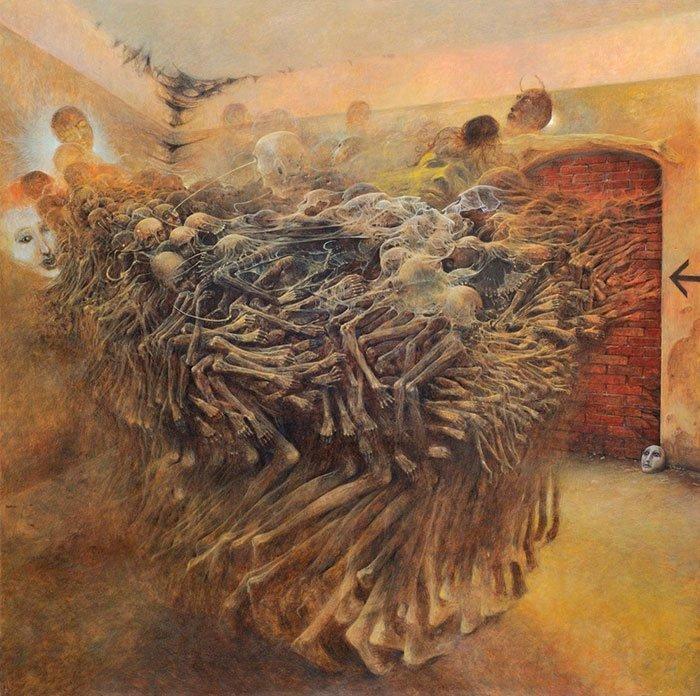 2. Картина без названия, Здзислав Бексиньский жутко, интересное, искусство, истории, картины, мистика, проклятие, художники
