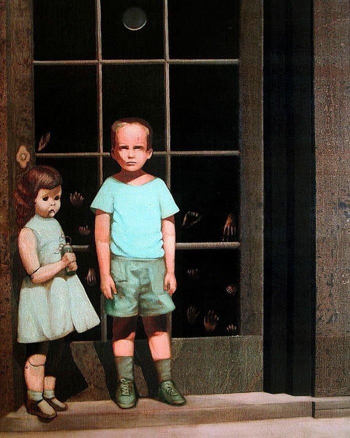 """3. """"Руки противятся ему"""", Билл Стоунхем жутко, интересное, искусство, истории, картины, мистика, проклятие, художники"""